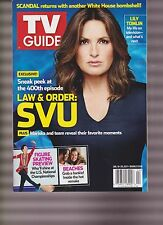 TV GUIDE MAGAZINE JAN.16-29 2017, DOUBLE ISSUE, LAW & ORDER SVU, NEW NO LABEL.