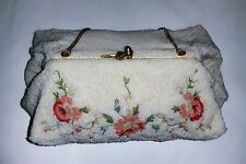 JOSEF~RARE~UNIQUE VINTAGE 30s BEADED & HANDMADE IN FRANCE PUFFY STYLE FORMAL BAG