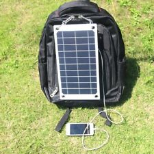 Portable 5V 7.5W Solar Panel Charging USB Charger Bank Pack For iPhone Samsung