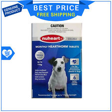 NUHEART for Dogs Up To 11 Kg BLUE 6 Tablets Heartworm treatment by Pharmachem