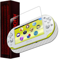 Skinomi Carbon Fiber Silver Skin+Screen Protector for Sony PS Vita PCH-2000