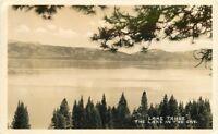 Beautiful View 1953 Lake Tahoe California RPPC real photo postcard 747