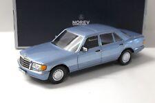 1:18 Norev Mercedes 560 SEL 1990 W126 light blue NEW bei PREMIUM-MODELCARS