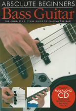 Learn How To Play BASS GUITAR Beginners Sheet Music Book & CD - Tutor Method