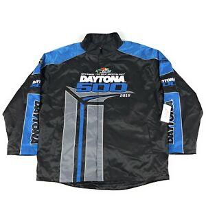 Nascar Daytona 500 2016 Fanatics Black Blue Quilt Lined Mens 2XL Pit Crew Jacket