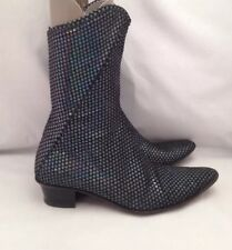 CLONE Black With Stars Mid Calf Boots UK3.5 / EUR36 VGC