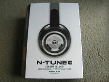 New Monster N-Tune HD Colour It Loud On-Ear Headphones Midnight Black 128526-00