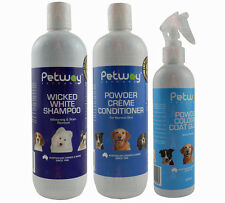 Petway Wicked White Grooming Kit Shampoo Conditioner Cologne Brush Dog Cat