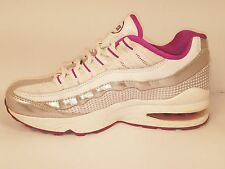Nike Air Max 95 GS 2010 White Silver 310830-103 Running Shoes Womens 6 Kids 4.5Y