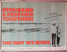Cinema Poster: WAY WE WERE, THE 1973 (Quad) Barbra Streisand Robert Redford