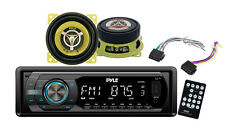 Pyle PLR44MU In Dash Car Receiver Stereo Package - 2 Speakers, Harness, Remote