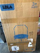 LBLA 36 Inch Kids Trampoline w Adjustable Handrail Padded Cover Foldable