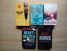 5 STEPHEN KING & JOE HILL P/B's DR.SLEEP, GREEN MILE, HORNS, HEART SHAPED BOX