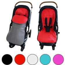 GOOSEBERRY MINKY FOOTMUFF PRAM STROLLER SEAT LINER 2in1 COSY TOES Universal Fit