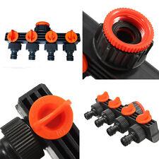 4 Way Garden Water Tap Splitter Adaptor Quick Thread Hose Pipe Connector Adapter
