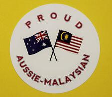 PROUD AUSSIE - MALAYSIAN AUSTRALIAN STICKER VINYL DECAL CAR UTE TRUCK CARAVAN