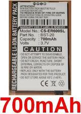 Batterie 700mAh Pour SONY ERICSSON R600, BST-20