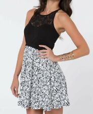 NWT WOMENS METAL MULISHA VENICE BLACK WHITE LACE BODICE DRESS XL X-LARGE NEW