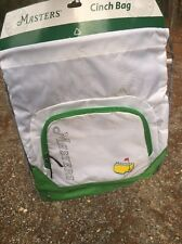 MASTERS BOOKBAG BACKPACK CINCH BAG AUGUSTA NATIONAL GOLF TOURNAMENT NEW