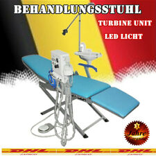 Portable Folding Dental Chair LED Turbine Unit 4H Weak Suction Christmas Sale