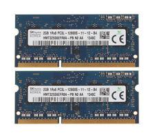 Hynix 2X 2GB PC3L-12800 1Rx8 DDR3L 1600Mhz 204Pin Laptop RAM Memory SODIMM 1.35V