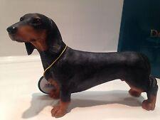 Miniature Standard Black Dachshund Dog Daschund Dog Gift Figure Figurine