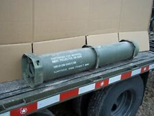 MILITARY SURPLUS 120MM AMMO TUBE CAN BURY GUNS AMO RIFLE MONEY VALUABLES US ARMY