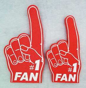 Foam Finger Hand Number 1 Fan Parent and Child pack