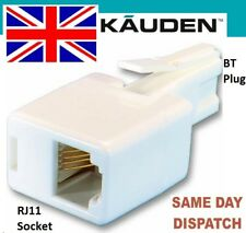 RJ11 to BT Telephone Phone Socket Plug Adaptor Converter US to UK 'White' Kauden