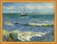 Seascape near Les Saintes-Maries-de-la-Mer Vincent van Gogh Segelboot B A2 03303