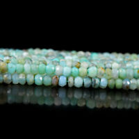 35.00 Cts / 13 Inches Earth Mined Drilled Peruvian Opal Faceted Beads Strand