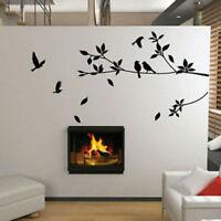 Large Removable Vinyl Art Wall Sticker Tree Branch Bird Mural Decals Home Decor