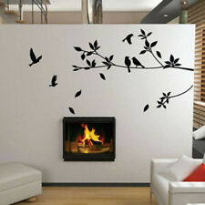 Large Removable Vinyl Art Wall Stickers Tree Branch Birds Mural Decal Home Deco#