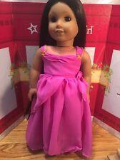 "Fits  American 18"" Girl Doll Clothes Magenta Dress Megara Greek Goddess Costume"