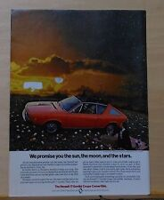 1974 magazine ad for Renault 17 Gordini Coupe Convertible - Promise sun, moon