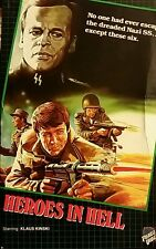 Heroes in Hell (1985, VHS) Force Video/Lightning Video BIG BOX KLAUS KINSKI