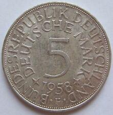 TOP! 5 DM 1958 F in VORZÜGLICH+++ !!!