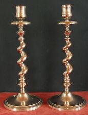 paire bougeoirs chandelier bronze torsade 19eme style L.XIII candlestick twisted