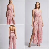 NEW RRP £32 Ex Dorothy Perkins Pink Paisley Print Jumpsuit