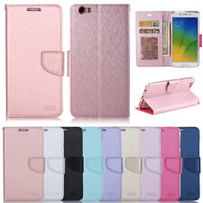 Silk Stand ID Leather Wallet Flip Case Cover For Oppo R9 Plus R11 F1s A57 A77 F3