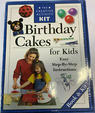 The Creative Acvivity Kit Birthday Cakes For Kids Book & Kit - FACTORY SEALED