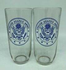 New listing Vintage Set of 2 Us Army Drinking Glasses