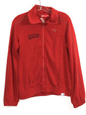 Puma Womens Large Jacket Ghana Football Association Soccer Zipper Zip Up Red L