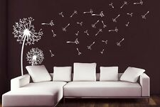 Wall Decal Vinyl Sticker 2 Dandelions Flower Nature Plants Botanic Grass r797