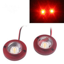2x Red Motorcycle High Power LED Strobe Flash Brake Tail Light For Victory Moto