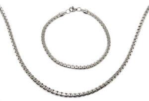 """Halskette und Armband, Edelstahl, Silberfarben, Design """"Fantasy"""", Damen"""