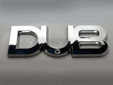 DUB Edition Chrome Badge Emblem Decal FIAT CHRYSLER MAZDA TOYOTA HONDA FORD MINI