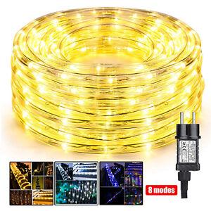 LED Lichtschlauch Außen Led Lichterschlauch IP65 Garten Partydeko Strombetrieben