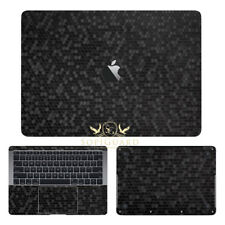 SopiGuard Honeycomb Black Sticker Skin Wrap for Apple Macbook Air 13 Retina