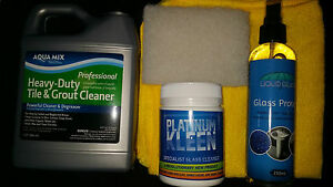 Shower Screen Glass and bathroom clean and protect pack. Great Value buy